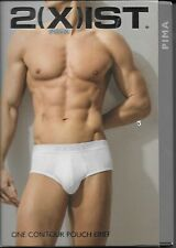 New Size Large Vintage 2xist One Contour Pouch Brief White
