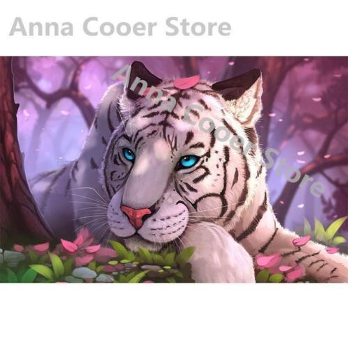 5D Diamond Painting Blue Eyed White Tiger Kit