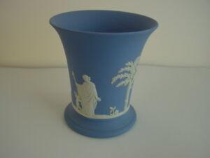 Wedgwood-Jasperware-blau-Vase-Blumenvase