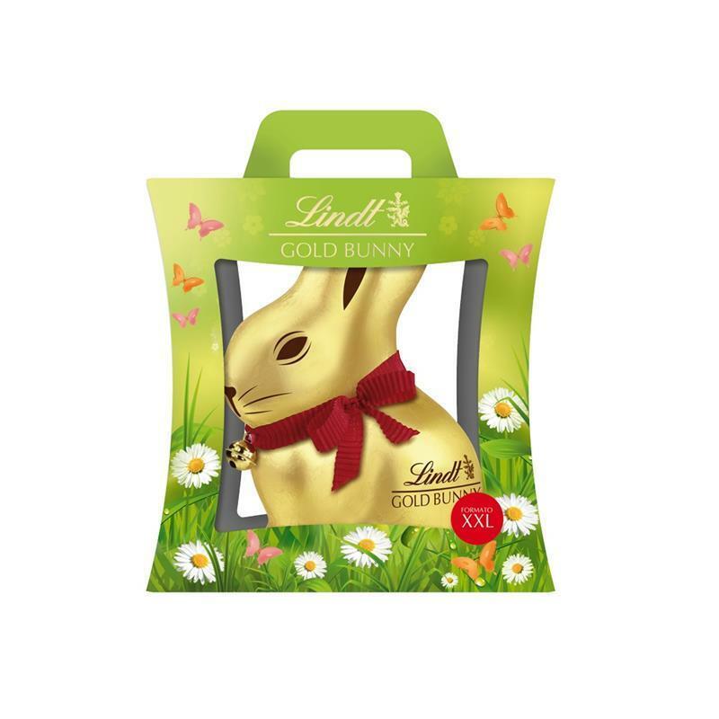 Lindt Coniglio di cioccolato XXL 1 Kg Gold Bunny uovo di pasqua al latte 467144