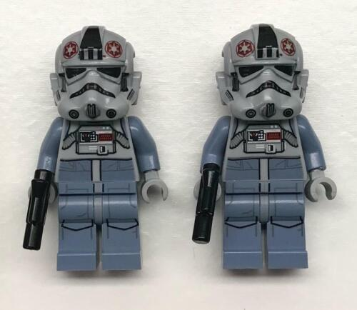 2 Lego AT-AT Drivers Minifig Lot Star Wars Figures 75075 75054 clone pilots