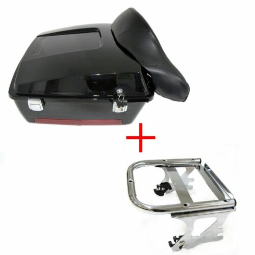 Touring Pak Pack Trunk For 97-08 Harley Touring W/towup Detachable Mounting Rack