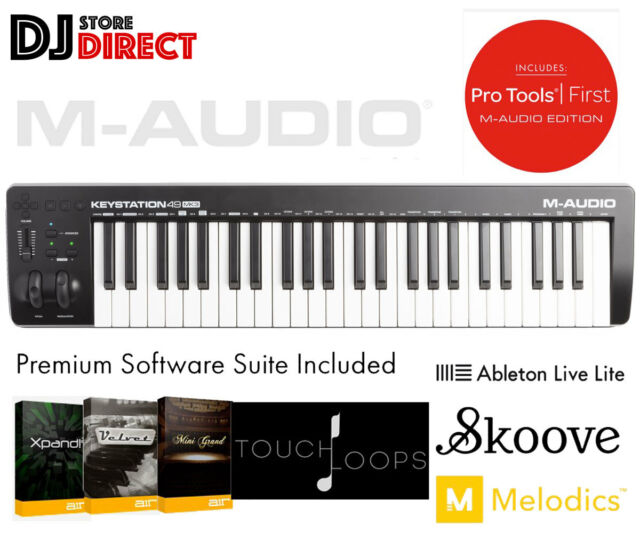 M-Audio Keystation 49 Mk3 USB Midi Keyboard Pad Controller Software Ableton