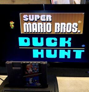 Nintendo-NES-Super-Mario-Bros-Duck-Hunt-panier-et-manches-teste-en-pics-navire