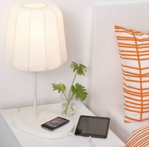 Ikea Varv Table Lamp With Wireless Charging White 702 807 09 Discontinued New Ebay