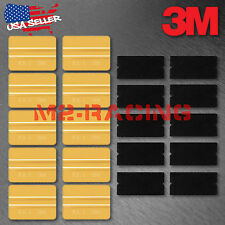 3M Gold Vinyl Wrap Squeegee Applicator Tool x10 Set Felt Edge Decal Tips x10 kit