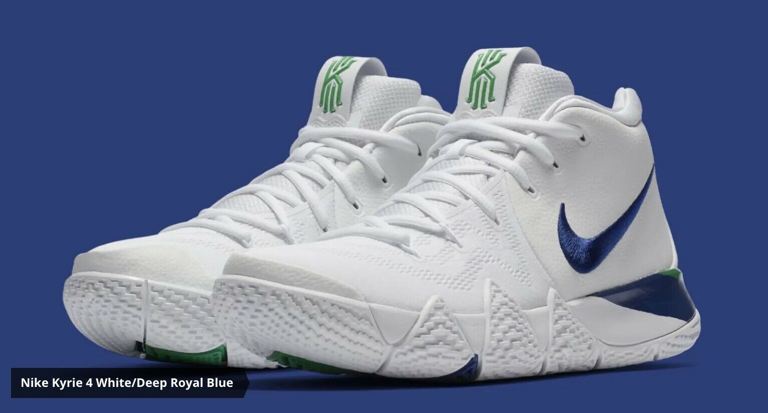 Nike Kyrie 4 Mens Size 13 943806-103 New With Box White Royal bluee  120 AB 552