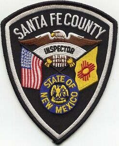 Santa Fe County New Mexico Nm State Flag Inspector Sheriff Police Patch Ebay