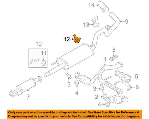 FORD OEM 11-18 F-150 3.5L-V6 Exhaust System-Muffler Rear Mount HL3Z5A246A