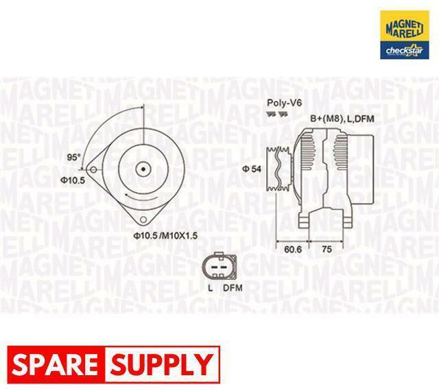 Alternador Para BMW Land Rover MAGNETI MARELLI 063731757010