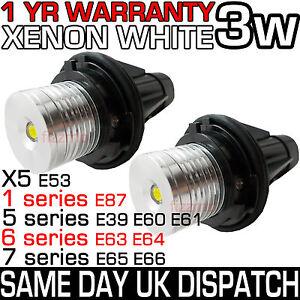 BMW-XENON-ANGEL-EYES-7000K-LED-MARKER-BULBS-E39-E53-E60-E61-E63-E64-E65-E66-E87