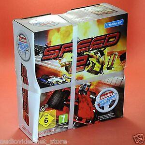 SPEED-2-Wii-IN-ITALIANO-combo-pack-BUNDLE-Gioco-Volante-Game-Racing-Wheel