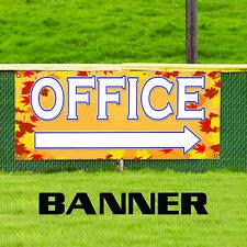 Office Right Arrow Commercial Business Novelty Indoor Outdoor Vinyl Banner Sign