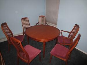 Dyrlund Flip Flap Table And Dining Room Set Ebay