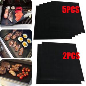 Lots-5pcs-BBQ-Grill-Mat-Non-Stick-Bake-Grilling-Mats-Barbecue-Pad-Teflon-Fiber
