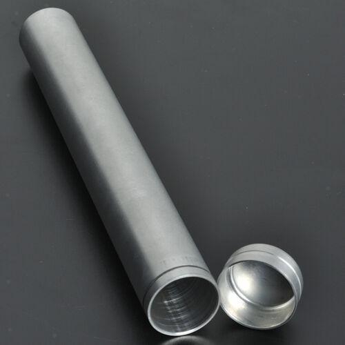1 Set Cigar Tube Aluminum Travel Humidor Holder Cigar Case Storage Silver
