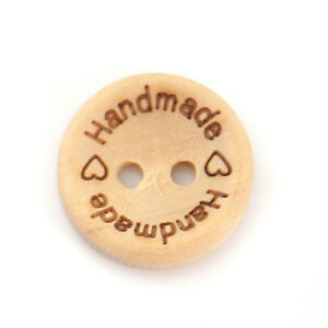 Sadingo-Wooden-Buttons-Round-to-sew-message-Handmade-Natural-50-PCS-15-MM
