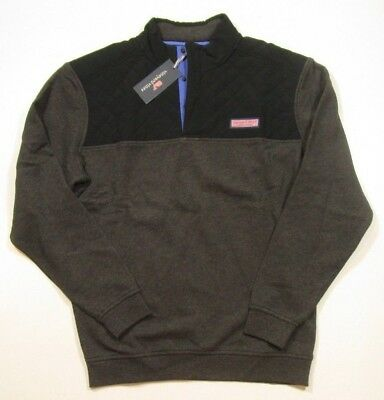 Vineyard Vines Men S Quilted Nylon Jet Black Amp Gray Shep