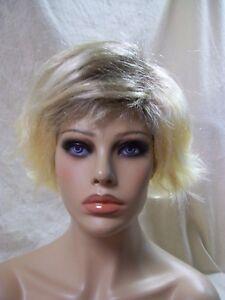 Fashion Cop Wig Yellow Blonde w// Dark Roots Joan Comedian Grunge Trashy Penny