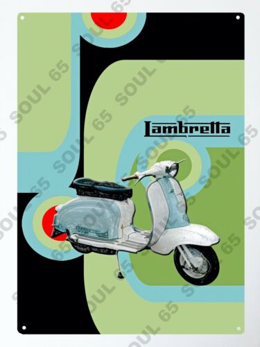 60s Retro Style Scooter Metal Sign Mods Northern Soul Sign Scooter Metal Sign