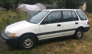 1990 Civic Wagon FWD 5spd