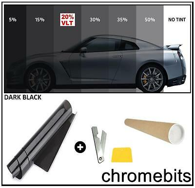50/%  75cm 3m Light Black Smoke Window Tinting Film Tints Kit for Car Kitcar SUV