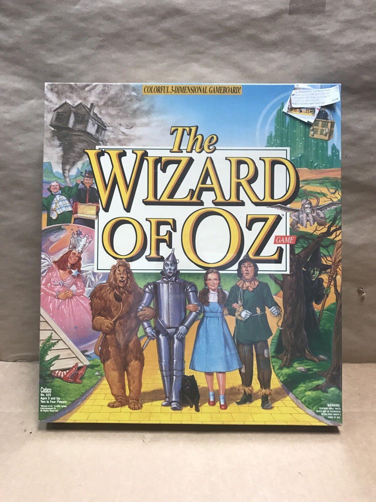 El Mago de Oz Colorido 3-dimensional Juego de Mesa por Cadaco 1993 Sellado Nuevo