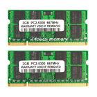 New 4GB 2x2GB PC2-5300 DDR2-667MHz 200Pin Sodimm Laptop Memory RAM