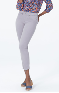 NYDJ-Not-Your-Daughter-039-s-Jeans-Alina-High-Waist-Ankle-Jeans-NWT-109-Grey-109