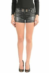 Just-Cavalli-Black-Covered-Women-039-s-Casual-Shorts-US-26-IT-40