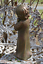 Concrete Garden Statue Sleepy Peaceful Baby Toddler Boy Hand Painted Aged Patina