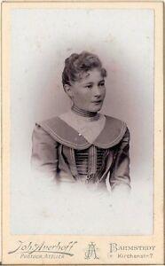 CDV-Foto-Damenportrait-Barmstedt-um-1900