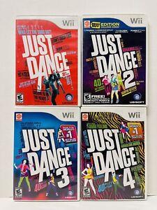 Just Dance 1 2 3 4 Nintendo Wii Set 4 Game Bundle Guaranteed Party Fun Free Ship