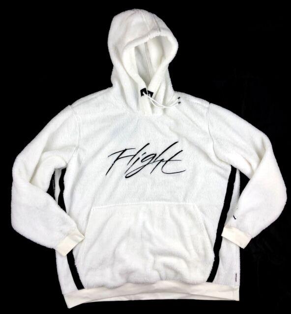 NIKE AIR PULLOVER Fleece Hoodie White Black Red 886046 100 Men's XL NEW
