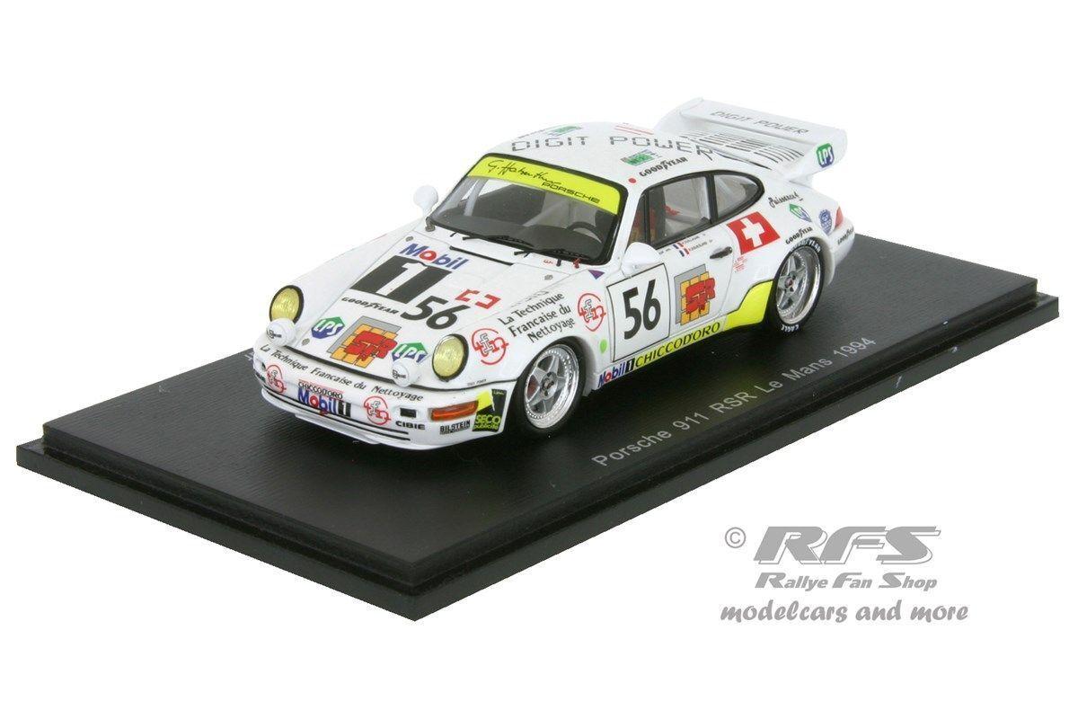 Porsche 911 rsr turbo-Haberthur Goueslard - 24h Le Mans 1994 - 1 43 spark 4444