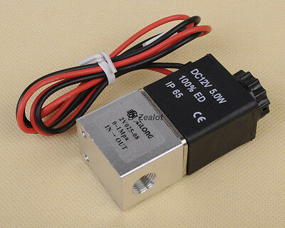 """Normally Closed 1/8"""" 12V DC Inch Plastic Electric Air Gas Water Solenoid Valve"""