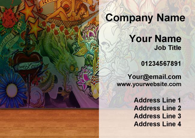 Tattoo Artist Studio Personalised Business Cards