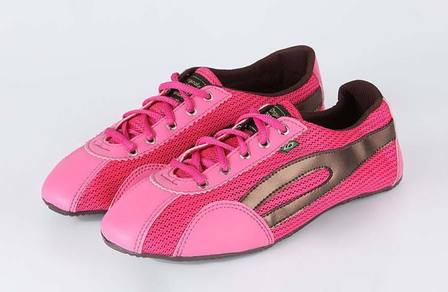 Taygra Brasil Dark Pink & Brown Slim Sneakers Flexible & Light Shoes Size 7