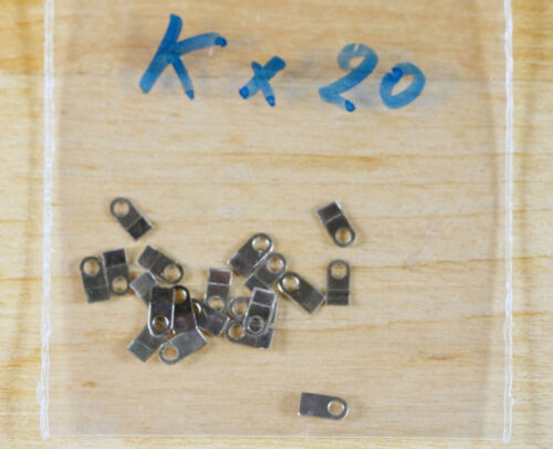 Case clamp mounting  tab K 20 pieces for ETA Valjoux movements 4.0x2.0mm