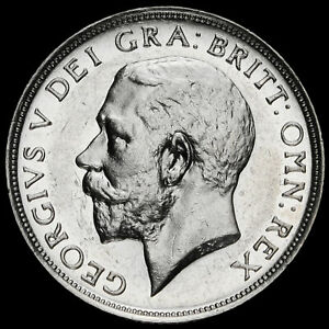 1911-George-V-Silver-Proof-shilling-A-UNC