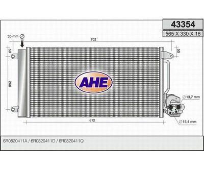 BEHR HELLA SERVICE 8FC 351 343-354  Kondensator Klimaanlage
