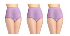 whisper lavender color NEW  VANITY FAIR RAVISSANT NYLON BRIEFS 15712 Size 8 xl
