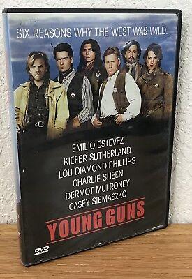 YOUNG GUNS (DVD, 1998) w/CHAPTER INDEX INSERT ~ WIDESCREEN