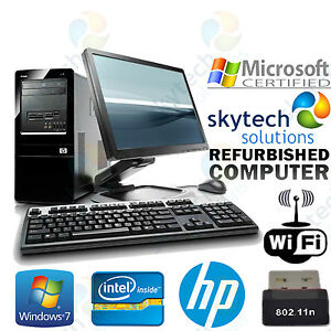Cheap Hp Computer Tower Monitor Keyboard Mouse Fast Windows 7 Dual