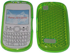 For Nokia Asha 201 / 2010 Pattern Gel Case Cover Protector Pouch Green New UK