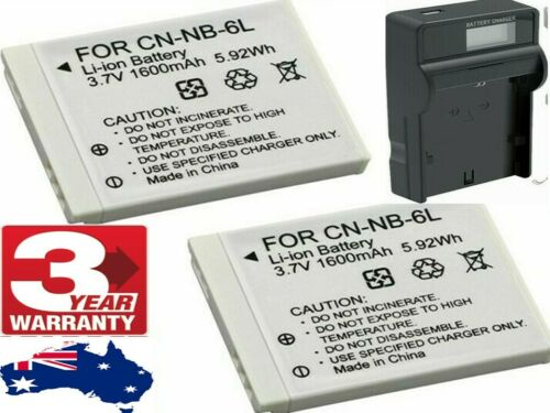 OEM NB-6L NB-6LH Battery LCD Charger For Canon PowerShot D10 D20 S90 S95 Camera
