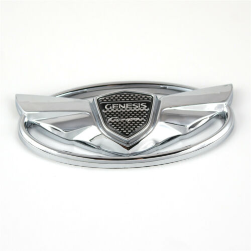 For Hyundai Genesis Coupe Car Grille Silver WING Logo Rear Emblem Badge