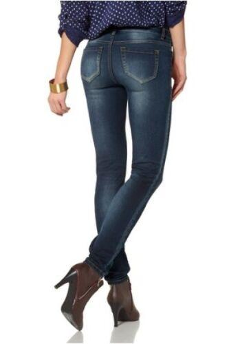 36 nuovo donna blue used Denim Pantaloni AJC GIRLS SUPER STRETCH Tubo Jeans k-gr.18