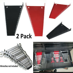 d43426653926 Details about 2 Pack Box Organizer Sorter Tool Holder Storage Rack Tray  Rail Sorter 16 Wrench