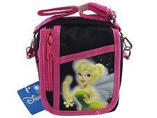 Disney Tinkerbell Black Camera Messenger Cross Shoulder Bag Coin Purse